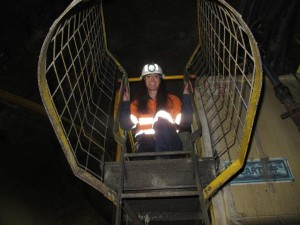 1200 meters underground but up a ladder - Philippa Vojnovic